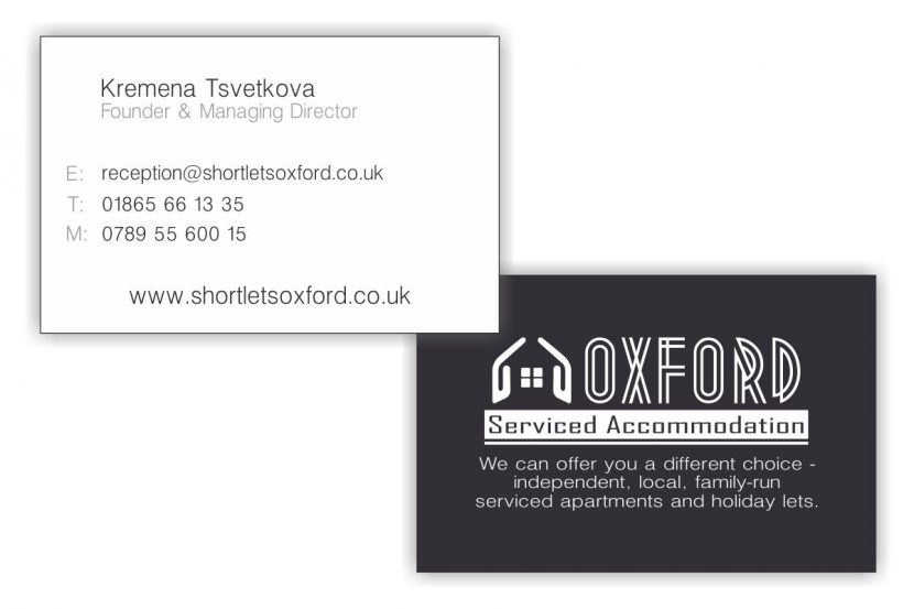 SA Oxford Business Cards