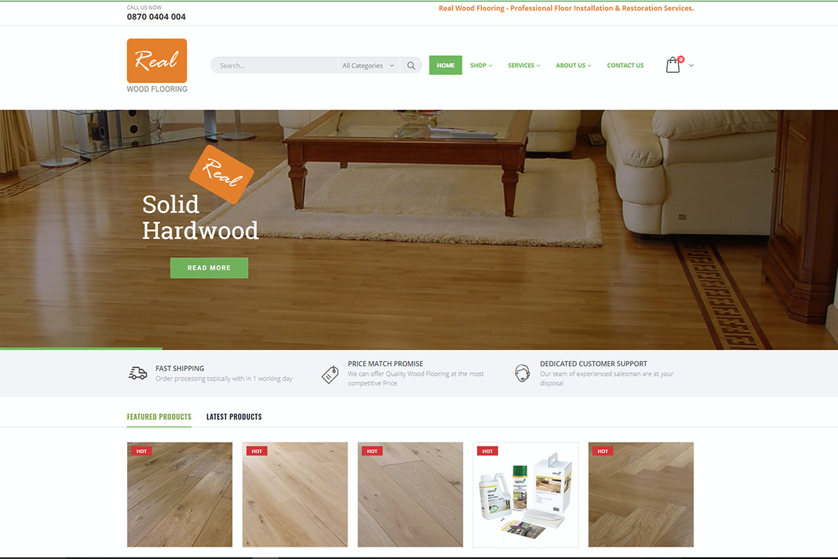 Real Wood Flooring Website