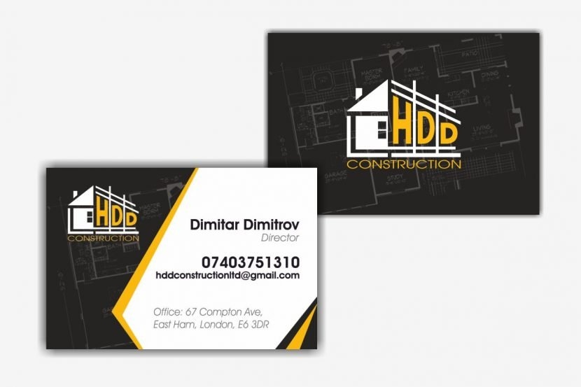 HDD Construction Business Cards