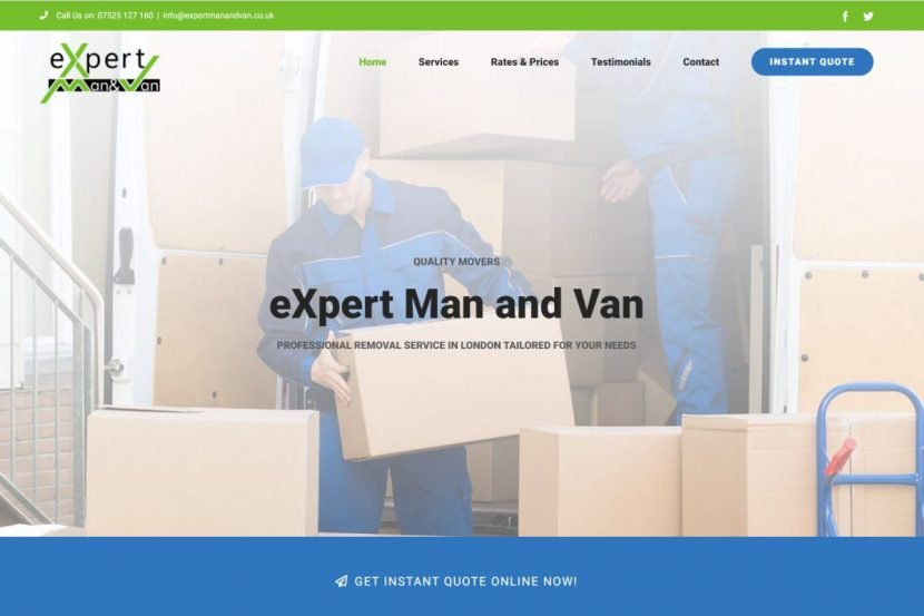 eXpert Man and Van website