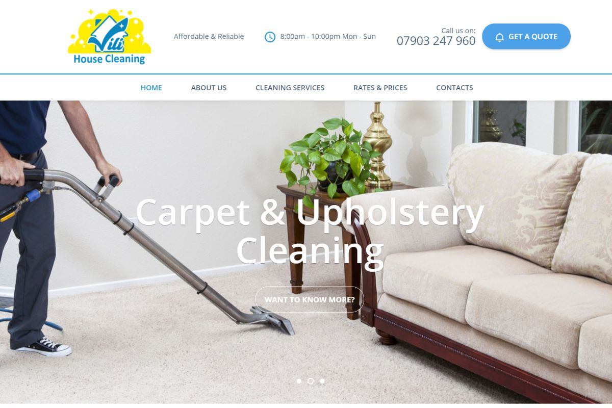 Vili House Cleaning Website